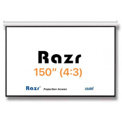 Razr Wall Screen จอแขวนมือดึง 150 นิ้ว (MW 4:3)