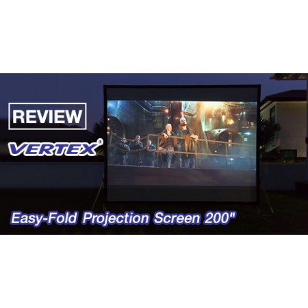 Vertex Easy-Fold Projection Screen 200 นิ้ว (F+R)